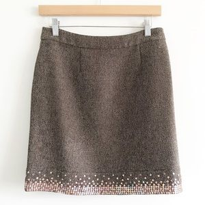 Spenser Jeremy Brown Tweed Sequin Mini Skirt 4